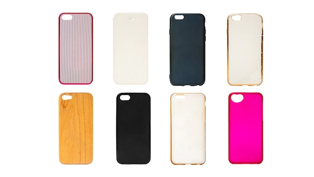 Комплект пластиковых и силиконовых задних чехлов для смартфона