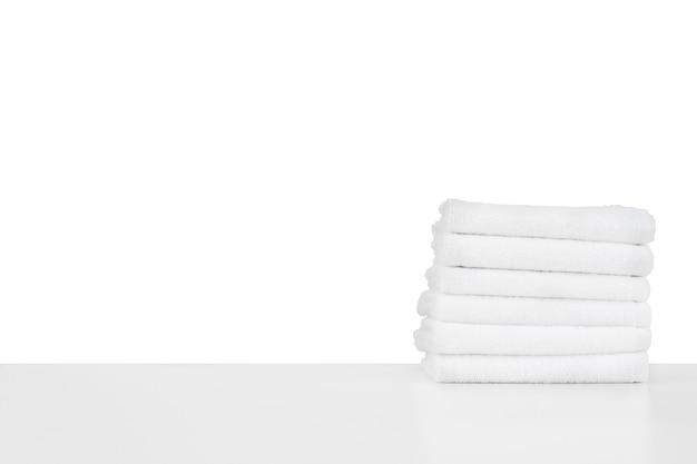 흰색 절연 부드러운 스파 수건 세트