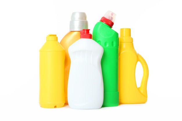 白で隔離のクリーニングと消毒のためのツールのセット