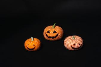Set of toy jack-o-lanterns