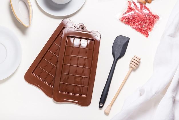 초콜릿 몰드 2 개 세트, 브라운 실리콘