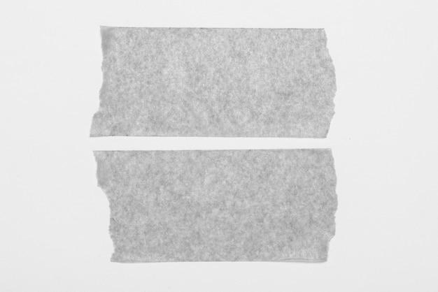 흰색 바탕에 두 개의 스틱 테이프 세트