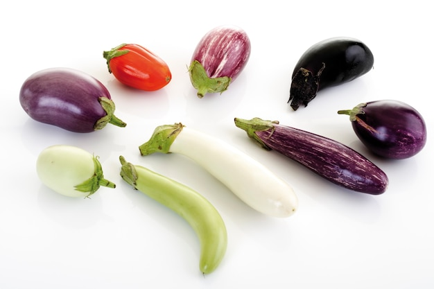 白で隔離野菜のセット