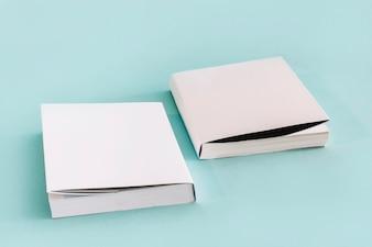 Set of white books