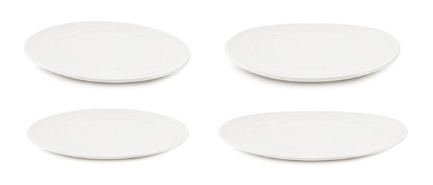 흰색에 흰색 접시 세트