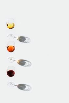 안경에 와인 세트