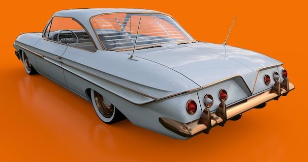 Установил старую американскую машину в отличном состоянии. 3d-рендеринг.