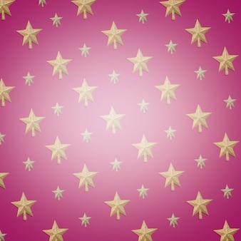 Set of ornament gold stars