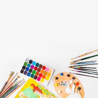 Set of painting supplies