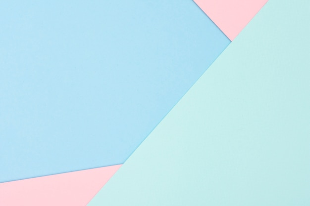 Set of pastel paper sheets