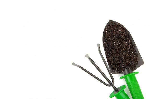 Set of plant care utensils isolated Premium Photo