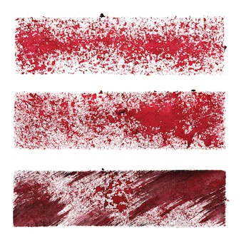 Set of red stencil stripes -  space for your own text - raster illustration