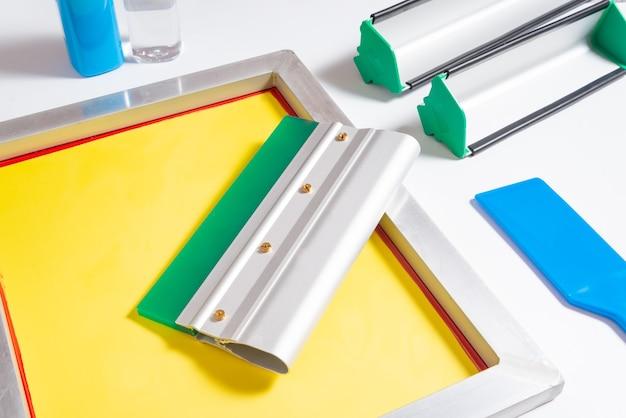 Set of screen printing tools, kit