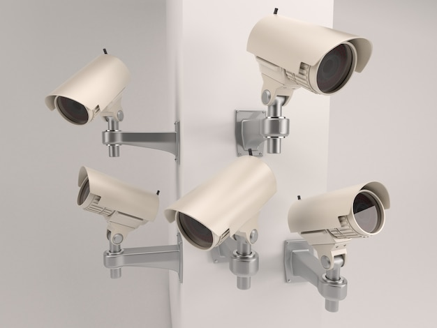Set of security cameras