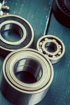 Set of steel ball bearings