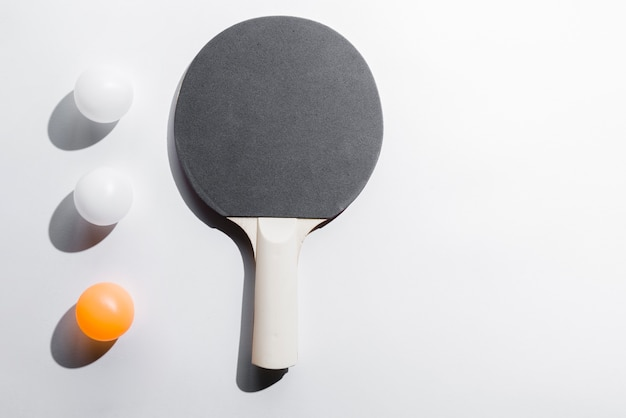 Set of table tennis equipment
