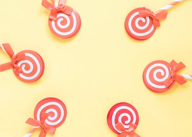 Set of tasty lollipops