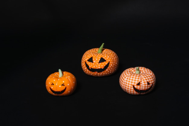Set of toy jack-o-lanterns