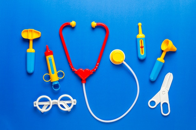 Set of toy medical equipment.