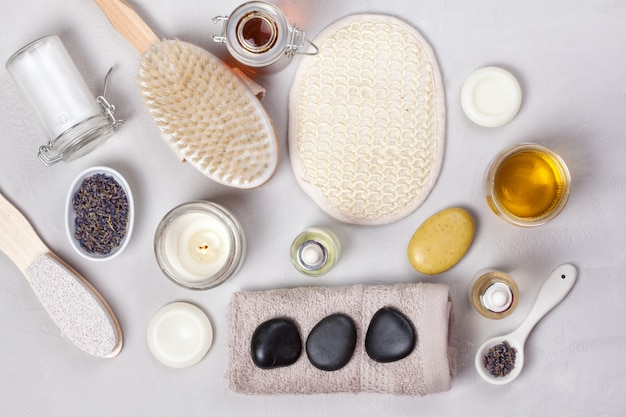 Set of traditional spa products