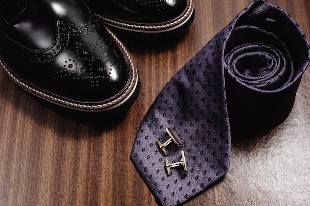 Set of trendy men's clothes and accesories