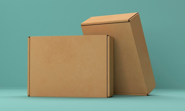 Set of two cardboard boxes