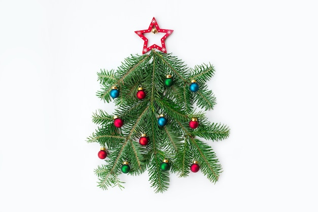 Set of various christmas decorations isolated