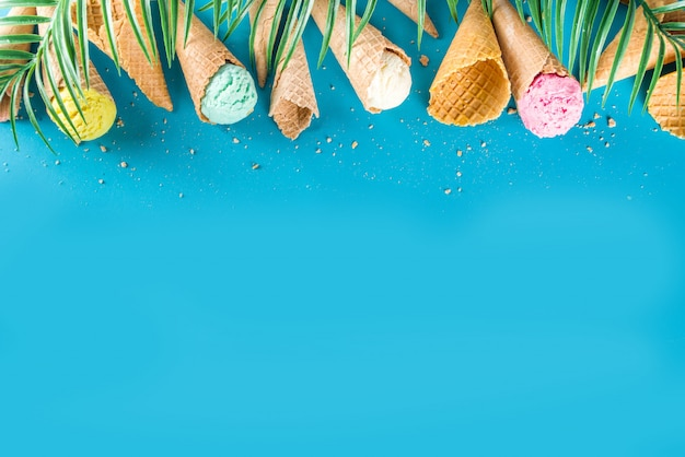 Set of various ice cream