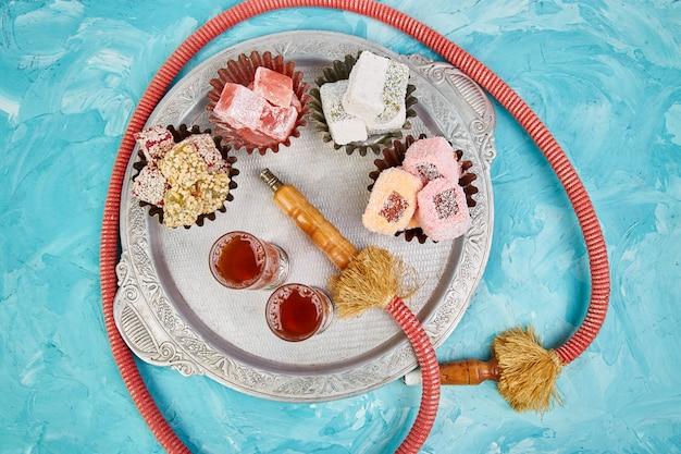 Set of various turkish delight.