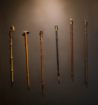 Set of walking sticks and elbow crutches