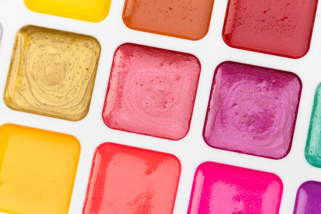 Set of watercolor paints