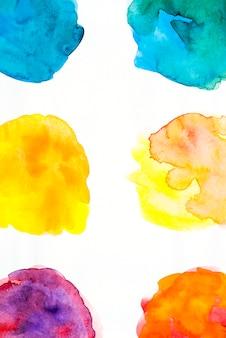Set of watercolor splatter on white background