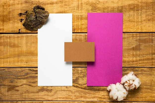 Set of wedding envelopes on wooden background