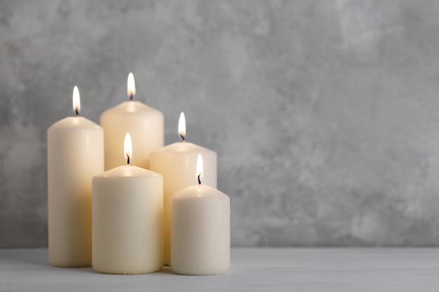 Set of white candles
