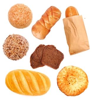 흰색 절연 모듬 빵으로 설정