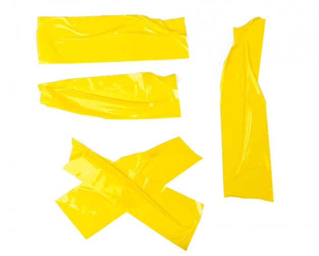 Set of yellow tapes
