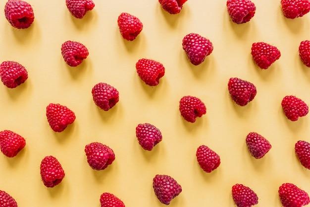 Set of yummy raspberries Premium Photo