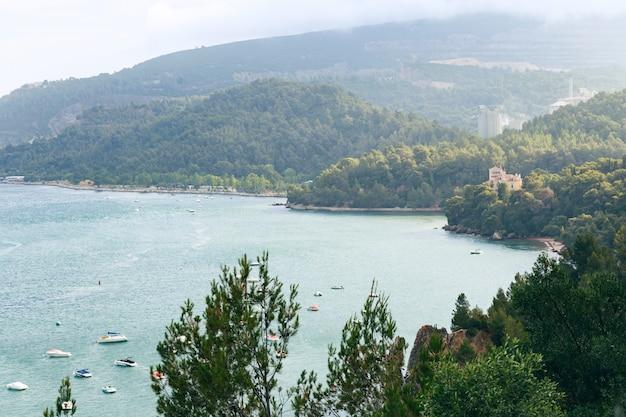 Setubal city and sea shore