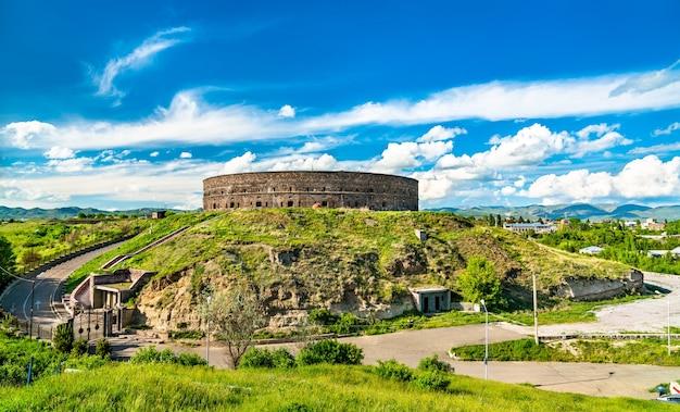 Sev berd または black fortress、アルメニアのギュムリにあるロシア帝国の放棄された要塞