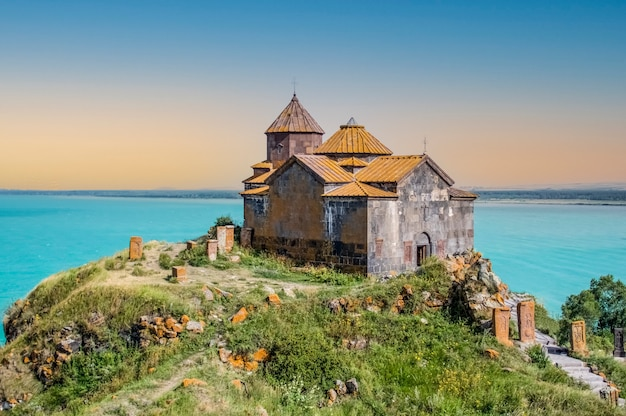 Sevanavank monastery lake sevanin thegegharkunik provinceofarmenia
