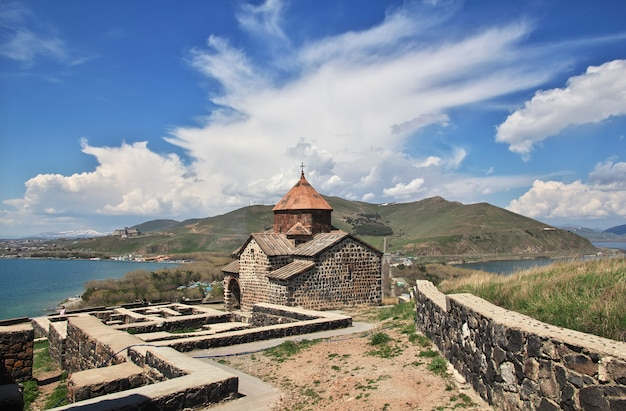 Sevanavank monastery on sevan lake, armenia