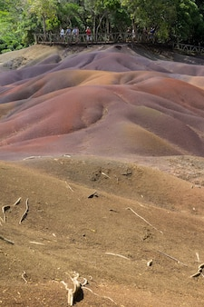 Seven colored earth, chamarel, mauritius
