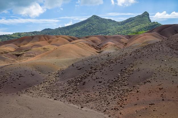 Seven colored earth, chamarel, mauritius