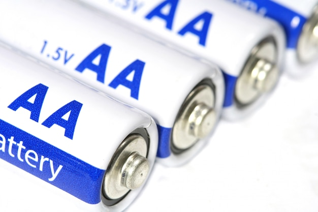 Several aa batteries