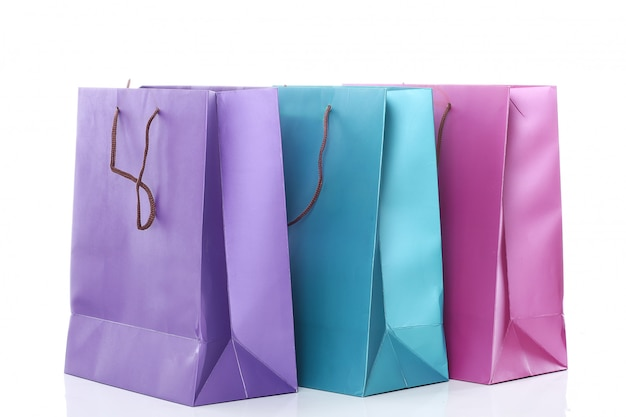 Several colorful shopping bags