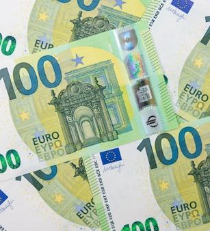 Several hundred euros bills spread