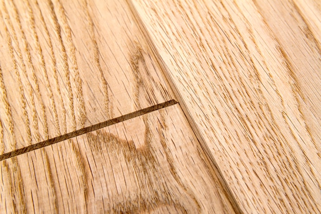 Several planks of laminate or parquet