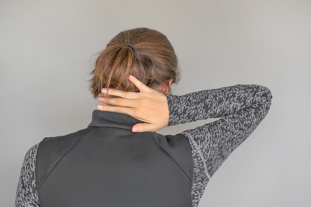 Severe neck pain in women