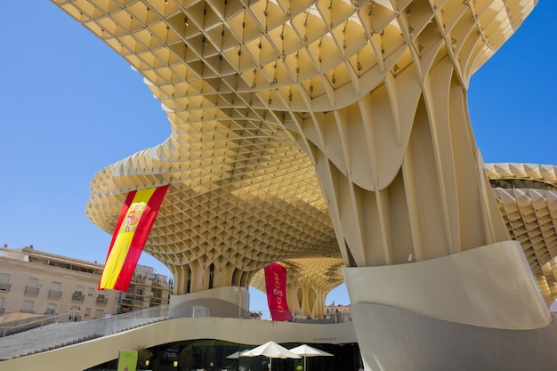 Sevilla,spain -september 14: metropol parasol in plaza de la encarnacion on september 14, 2011 in sevilla,spain. j. mayer h. architects, it is made from bonded timber with a polyurethane coating.