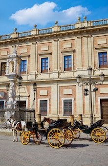 Seville archivo indias horse carriage sevilla spain